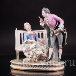 Композиция из фарфора Лорнет, Porcelaine de Paris, Франция, 19 в.