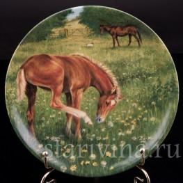 Декоративная фарфоровая тарелка Копытце, Royal Worcester, Великобритания, 1991 г.